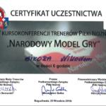 Certyfikat NMG Rze 2016