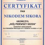 Certyfikat Wisła Krk 2016